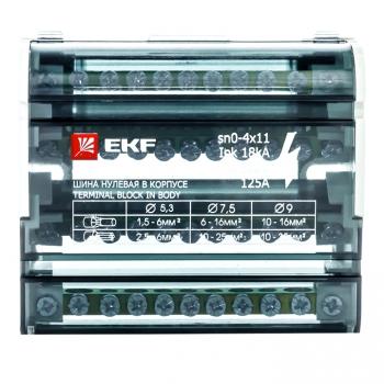 Шина нулевая в корпусе (4х11) EKF PROxima