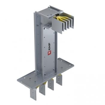 Фланцевая секция с вертикальным углом для подключения к щиту  400 А IP55 AL 3L+N+PE(КОРПУС)