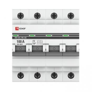 Выключатель нагрузки 4P 100А ВН-125 EKF PROxima