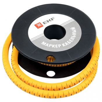 "Маркер кабельный 4,0 мм2 ""1"" (500 шт.) (ЕС-2) EKF PROxima"