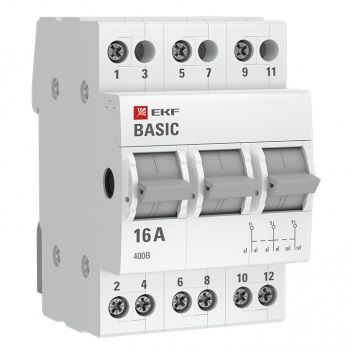 Трехпозиционный переключатель 3P 25А EKF Basic