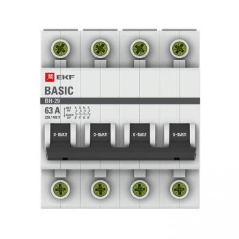 Выключатель нагрузки 4P 63А ВН-29 EKF Basic