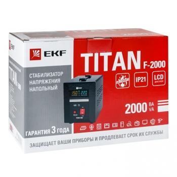 Стабилизатор напряжения напольный TITAN F-2000 EKF PROxima