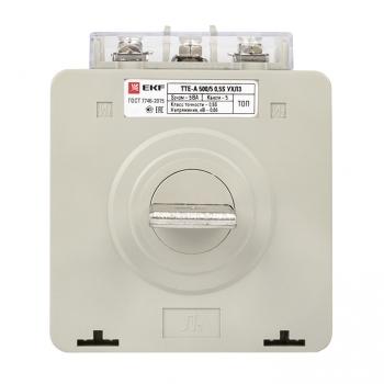 Трансформатор тока ТТЕ-A-500/5А с клеммой напряжения класс точности 0,5S EKF PROxima