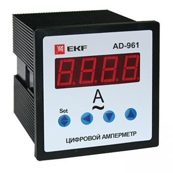 Амперметр AD-961 цифровой на панель (96х96) однофазный EKF  PROxima