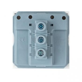 Выключатель 10А, 1 клавишный проходной без индикатора