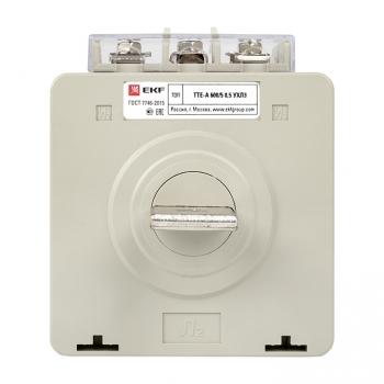 Трансформатор тока ТТЕ-A-600/5А с клеммой напряжения класс точности 0,5 EKF PROxima