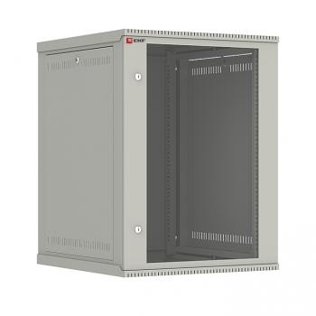 Шкаф телекоммуникационный настенный разборный 15U (600х650) дверь стекло, Astra E серия EKF PROxima