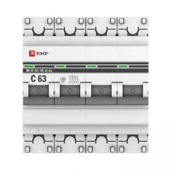 Автоматический выключатель 4P 13А (C) 4,5kA ВА 47-63 EKF PROxima
