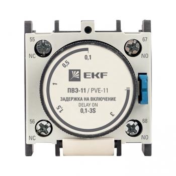 Приставка выдержки времени включения ПВЭ-11 0,1-3сек NO+NC EKF PROxima