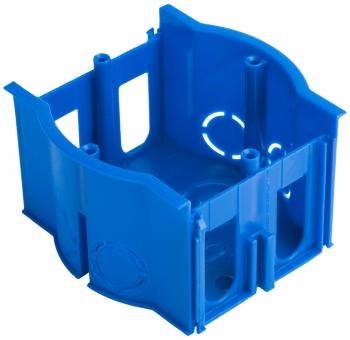 Коробка установочная сборная проходная КМТ-010-4007 для твердых стен (71х45) с саморезами розн стикер EKF