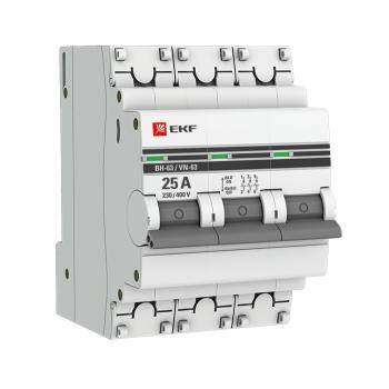 Выключатель нагрузки 3P  25А ВН-63 EKF PROxima