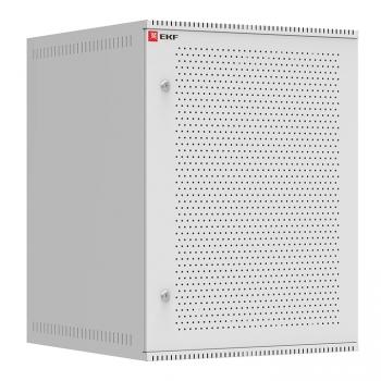 Шкаф телекоммуникационный настенный 15U (600х650) дверь перфорированная, Astra A серия EKF Basic