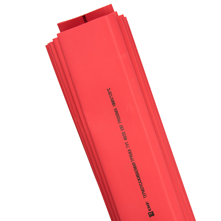 Трубка термоусадочная ТУТ 40/20 красн. (уп.25шт) PROxima EKF tut-40-r-1m купить в интернет-магазине RS24