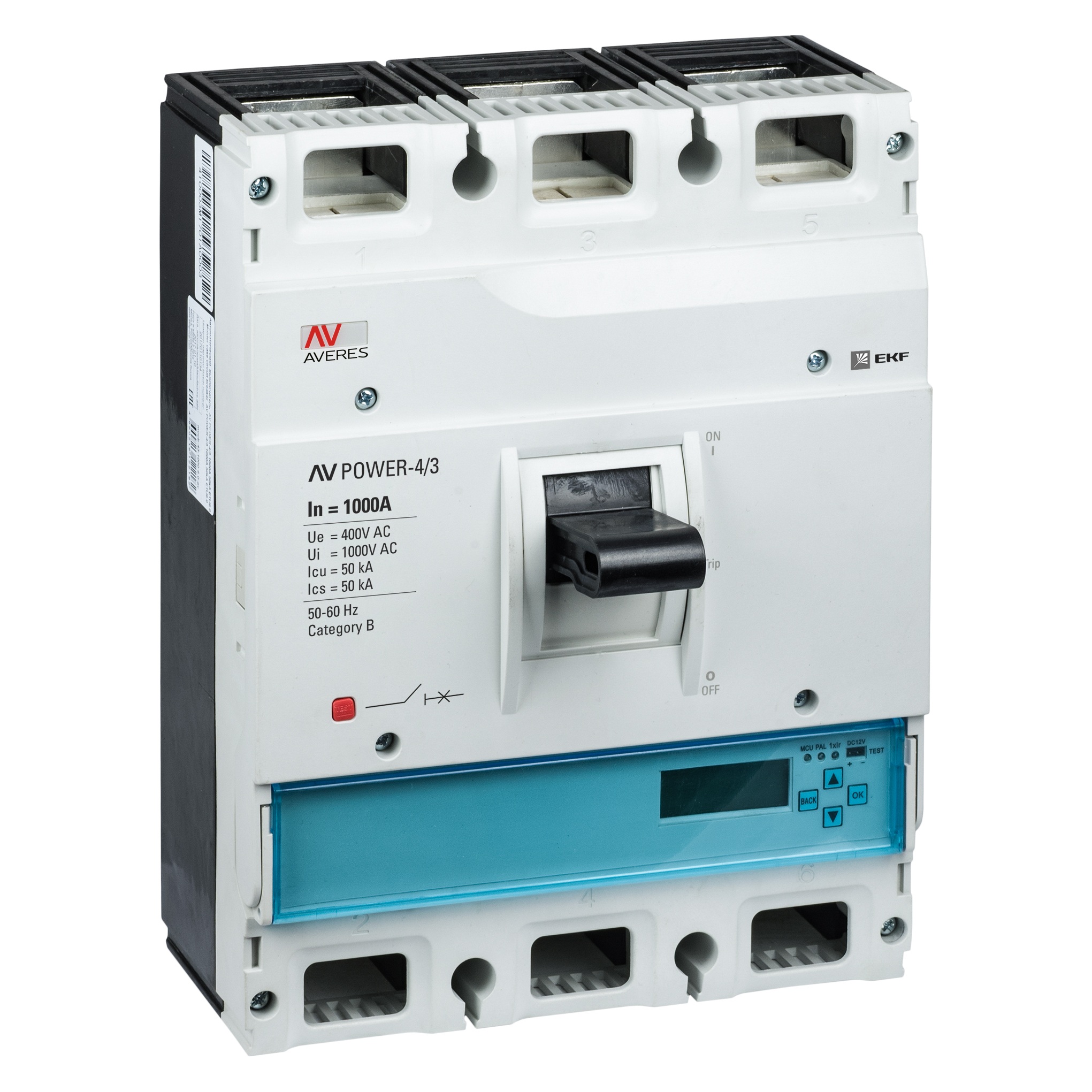 Выключатель автоматический AV POWER-4/3 1000А 50кА ETU6.0 AVERES EKF mccb-43-1000-6.0-av купить в интернет-магазине RS24
