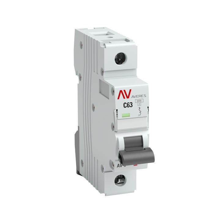 Выключатель автоматический 1п D 63А AV-6 6кА AVERES EKF mcb6-1-63D-av купить в интернет-магазине RS24