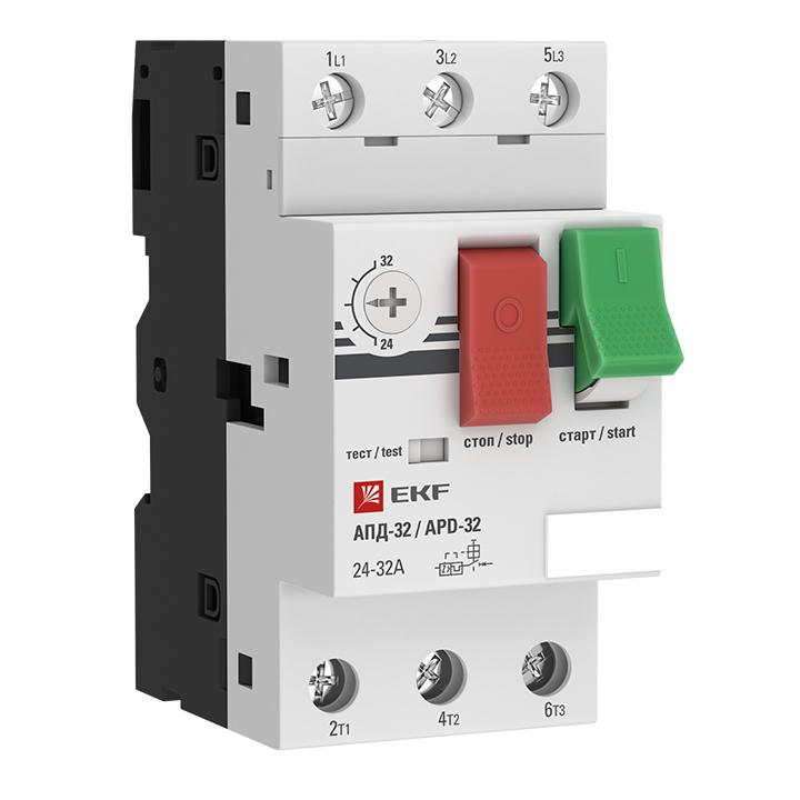 Выключатель авт. защиты двиг. АПД-32 20-25А EKF apd2-20-25 купить в интернет-магазине RS24