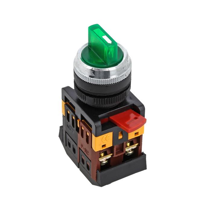 Переключатель ANC-22 2P зел. с подсветкой 220В NO+NC EKF psw-ans-2p-g-220 купить в интернет-магазине RS24