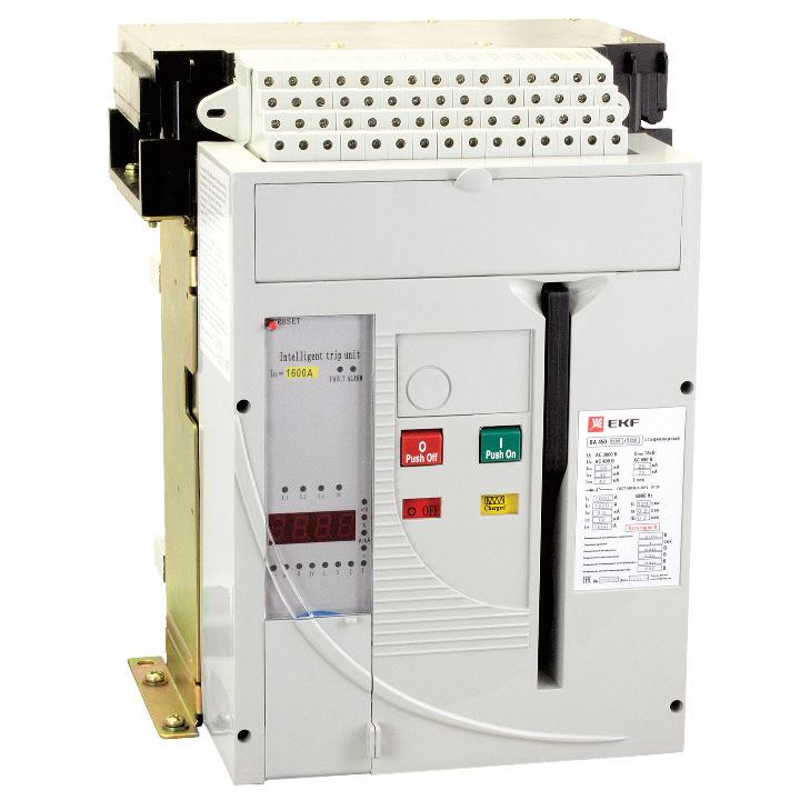 Выключатель автоматический 3п ВА-450 1600/1250А 55кА выкатной EKF mccb450-1600-1250v купить в интернет-магазине RS24