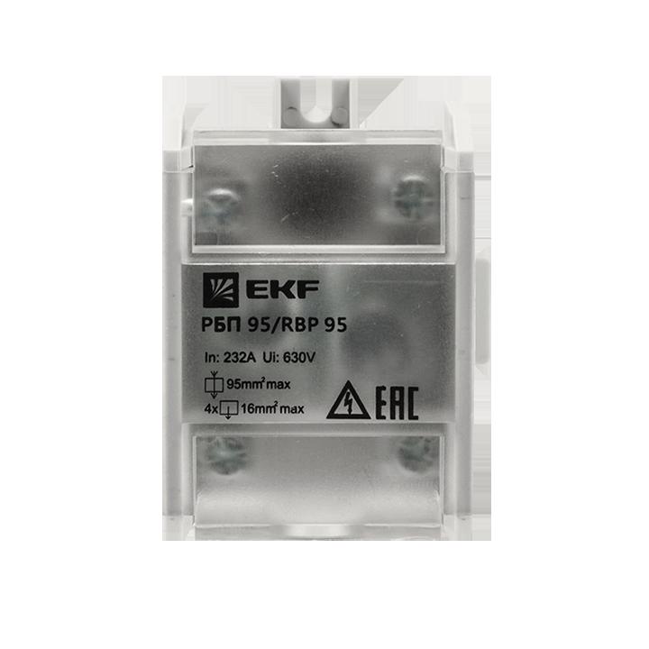 Блок распределительный проходной РБП 95 (1х95-4х16кв.мм) 232/100А PROxima EKF RBP-95-100 купить в интернет-магазине RS24